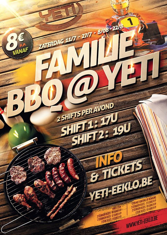 Familie bbq in Yeti Eeklo